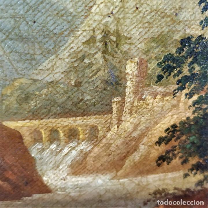 Arte: PAISAJE ROMÁNTICO. ÓLEO SOBRE LIENZO. ESCUELA NAPOLITANA (?). ITALIA. XVIII-XIX - Foto 17 - 195273055