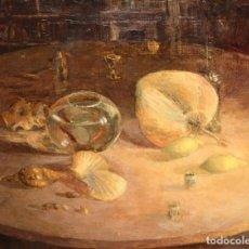 Arte: JOSE MANUEL LATRE (CASPE, ESPAÑA, 1949) OLEO SOBRE TELA. BODEGON. Lote 195285176