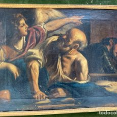 Arte: OLEO SOBRE LIENZO, ESCENA RELIGIOSA. S.XVIII.. Lote 195299042
