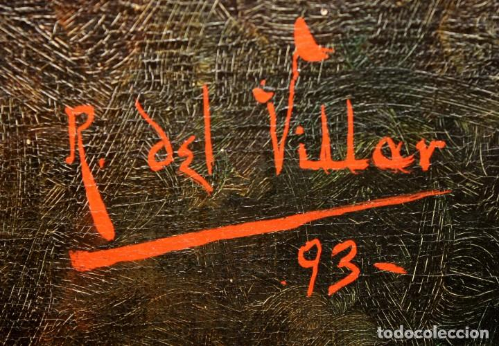 Arte: RAFAEL DEL VILLAR (Jerez de la frontera, 1873-1952) OLEO SOBRE TELA FECHADO DL 1893. BODEGON DE UVAS - Foto 9 - 195300308