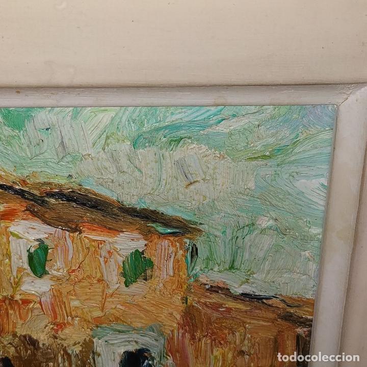 Arte: CASA DE CAMPO. ÓLEO SOBRE TABLEX. ESTILO IMPRESIONISTA. FIRMADO. ESPAÑA. SIGLO XX - Foto 3 - 195300926