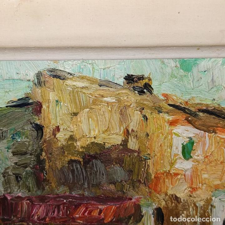 Arte: CASA DE CAMPO. ÓLEO SOBRE TABLEX. ESTILO IMPRESIONISTA. FIRMADO. ESPAÑA. SIGLO XX - Foto 4 - 195300926