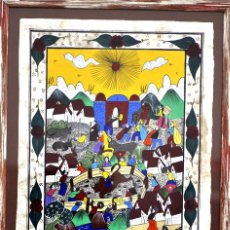 Arte: ESCENA FESTIVA POR ASCENCIO - MEXICAN FOLK ART FROM GUERRERO. Lote 195305756