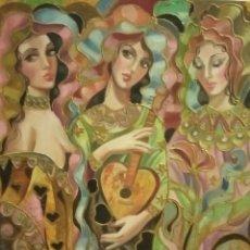 Arte: CUADRO OLEO LAS ARTES. Lote 195312887