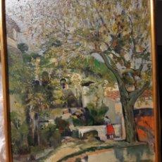 Arte: CUADRO EL GRENY A PREMIA DE DALT, PINTAT PER J.FOLCH I TORRES.NO ESTA FIRMAT. Lote 195318493