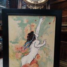 Arte: DESNUDO FEMENINO OLEO LIENZO. Lote 195325818