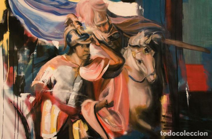 HANIBAL CONTEMPLANDO ITALIA DESDE LOS ALPES (Arte - Pintura Directa del Autor)