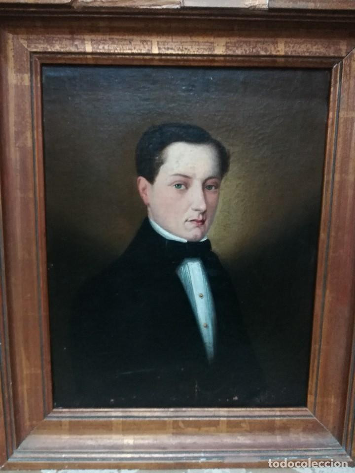MAGNIFICO RETRATO DE UN SEÑOR (Arte - Pintura - Pintura al Óleo Moderna siglo XIX)