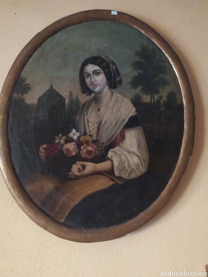 PAREJA DE ÓVALOS (Arte - Pintura - Pintura al Óleo Antigua siglo XVIII)