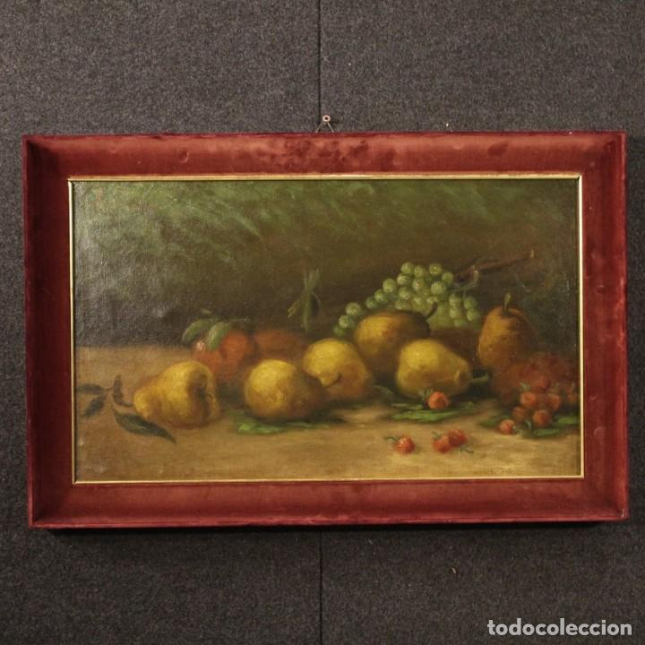 PINTURA ITALIANA FIRMADA BODEGÓN CON FRUTA (Arte - Pintura - Pintura al Óleo Moderna sin fecha definida)