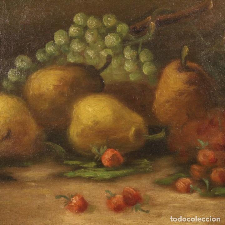 Arte: Pintura italiana firmada bodegón con fruta - Foto 3 - 195358218