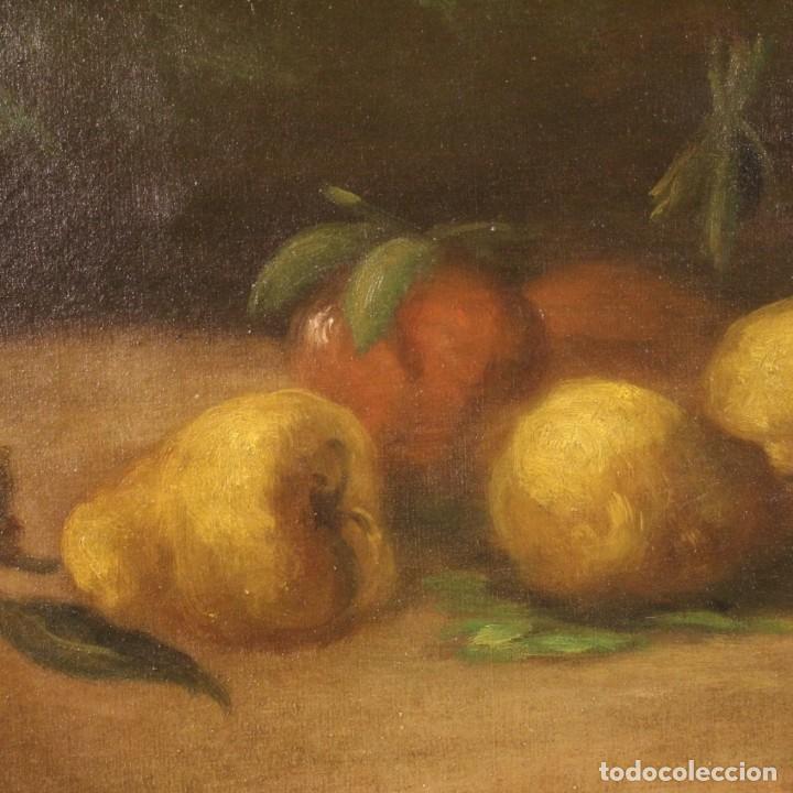 Arte: Pintura italiana firmada bodegón con fruta - Foto 4 - 195358218