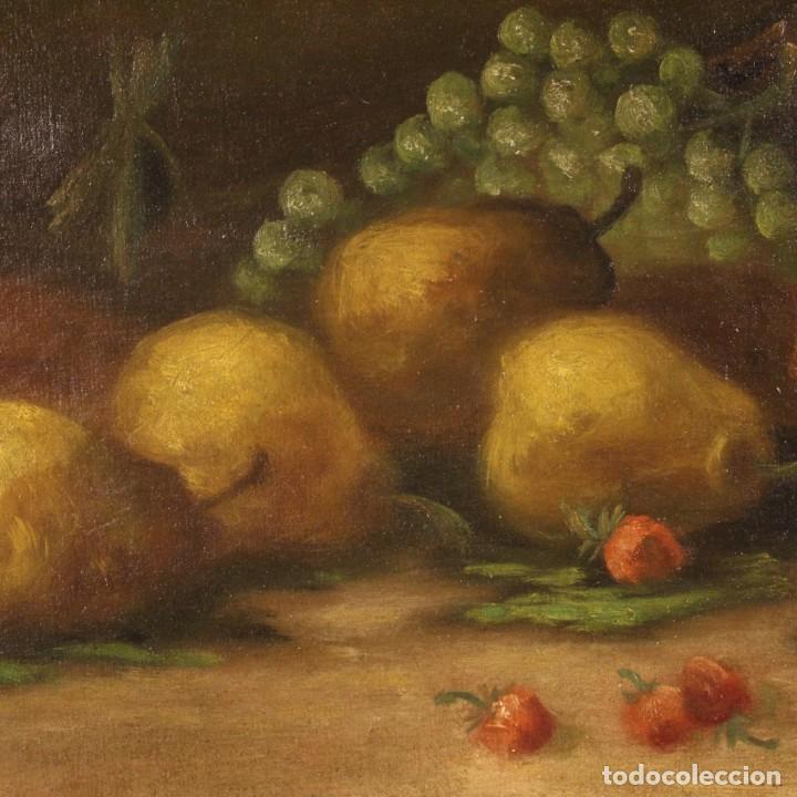 Arte: Pintura italiana firmada bodegón con fruta - Foto 5 - 195358218