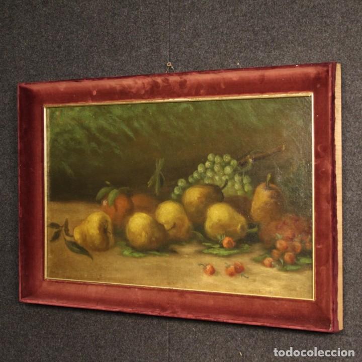 Arte: Pintura italiana firmada bodegón con fruta - Foto 6 - 195358218
