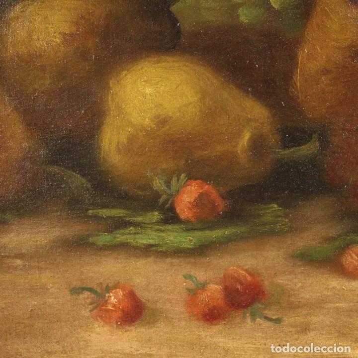 Arte: Pintura italiana firmada bodegón con fruta - Foto 7 - 195358218