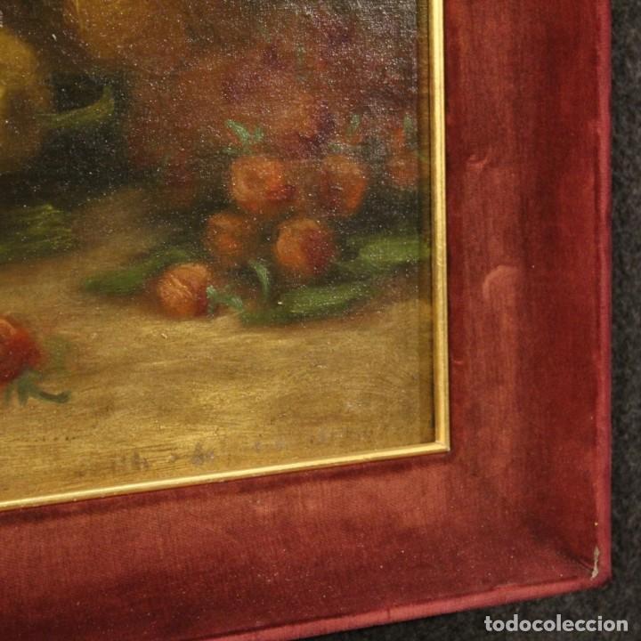 Arte: Pintura italiana firmada bodegón con fruta - Foto 9 - 195358218