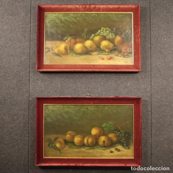 Arte: Pintura italiana firmada bodegón con fruta - Foto 11 - 195358218