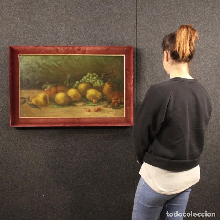 Arte: Pintura italiana firmada bodegón con fruta - Foto 12 - 195358218