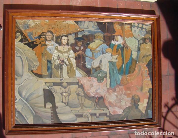 PINTURA HISTÓRICA DE POSTGUERRA. ÓLEO-LIENZO EN GRAN FORMATO DE 1943. (Arte - Pintura - Pintura al Óleo Moderna siglo XIX)