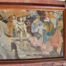 Arte: PINTURA HISTÓRICA DE POSTGUERRA. ÓLEO-LIENZO EN GRAN FORMATO DE 1943.. Lote 195381840