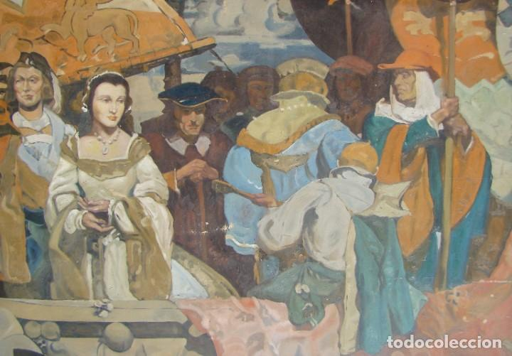 Arte: PINTURA HISTÓRICA DE POSTGUERRA. Óleo-lienzo en gran formato de 1943. - Foto 4 - 195381840