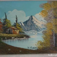 Arte: PAISAJE AL ÓLEO ALPES ITALIANOS FIRMADO DI GIOVANNI. Lote 195382006