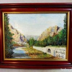 Arte: OLEO SOBRE TABLEX, PAISAJE, FIRMADO Y FECHADO. Lote 195383481