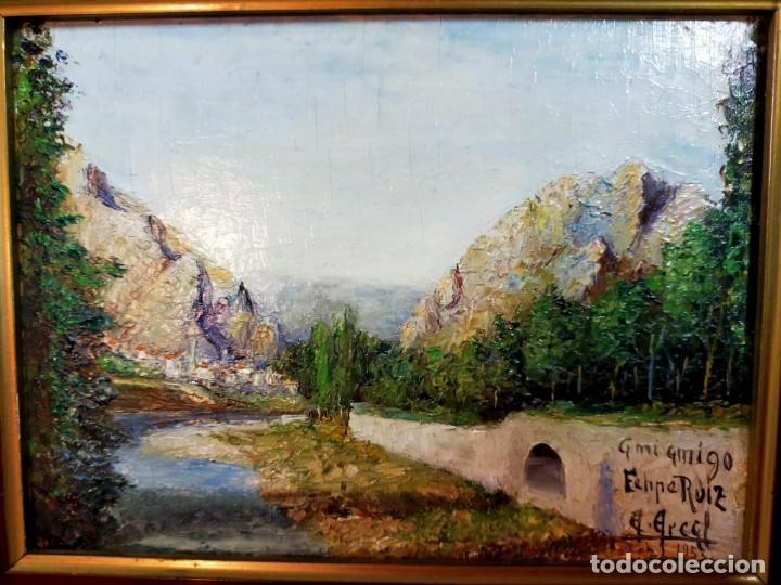 Arte: OLEO SOBRE TABLEX, PAISAJE, FIRMADO Y FECHADO - Foto 2 - 195383481