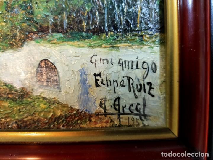 Arte: OLEO SOBRE TABLEX, PAISAJE, FIRMADO Y FECHADO - Foto 5 - 195383481
