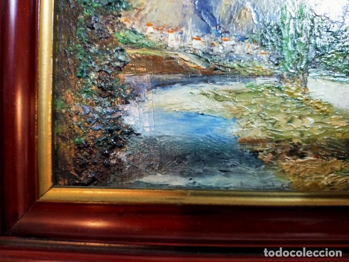 Arte: OLEO SOBRE TABLEX, PAISAJE, FIRMADO Y FECHADO - Foto 6 - 195383481