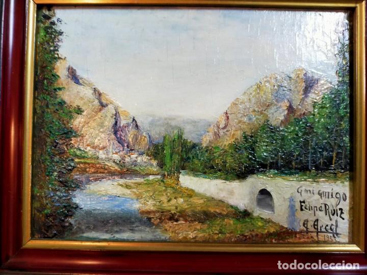 Arte: OLEO SOBRE TABLEX, PAISAJE, FIRMADO Y FECHADO - Foto 7 - 195383481