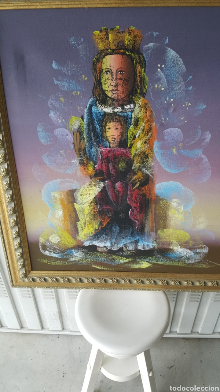 Arte: Cuadro oleo sobre lienzo.pintor gregorio tomas. - Foto 2 - 195386045