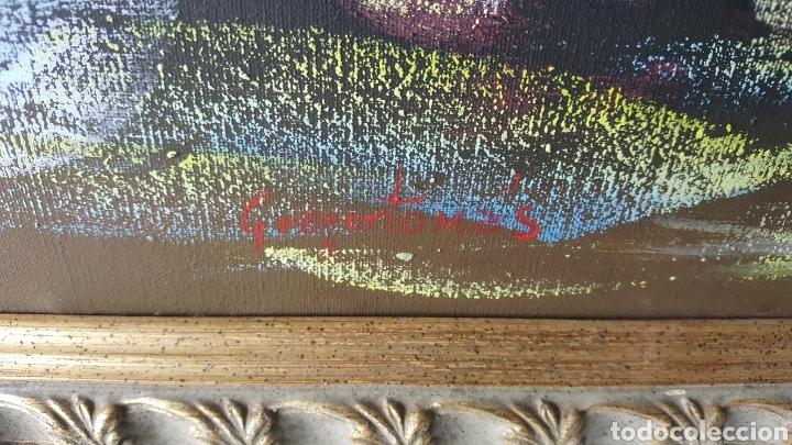 Arte: Cuadro oleo sobre lienzo.pintor gregorio tomas. - Foto 4 - 195386045