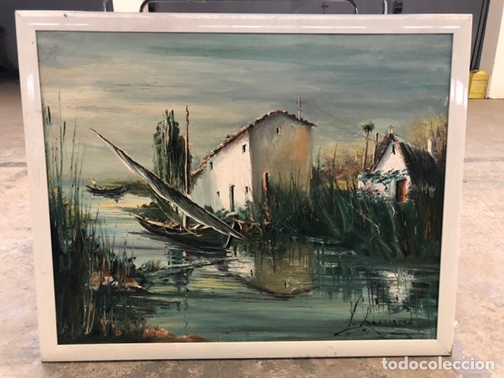 PAISAJE ALBUFERA DE ROCAMORA (Arte - Pintura Directa del Autor)