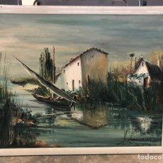Arte: PAISAJE ALBUFERA DE ROCAMORA. Lote 195399477
