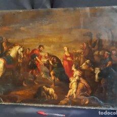 Arte: ESCENA BÍBLICA. ÓLEO SOBRE COBRE. ESCUELA FLAMENCA - HOLANDESA. SIGLO XVII.. Lote 195400355