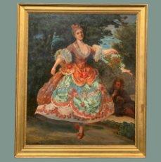 Arte: DAMA GALANTE EN TRAJE DE CORTE. Lote 195422588