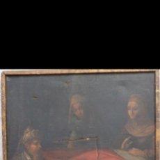 Arte: ESCUELA SEVILLANA SIGLO XVII. NACIMIENTO DE SAN JUAN BAUTISTA. ÓLEO SOBRE LIENZO. 107X82 CM.. Lote 195422800