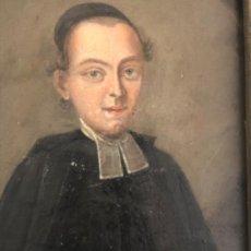 Arte: ANTIGUO ÓLEO DE RELIGIOSO ANGLICANO SOBRE COBRE. S.XVIII. Lote 195451030
