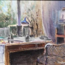 Arte: ANTERIOR GERARDO PORTO (A CORUÑA 1925 - 2010). ESTUDIO DEL ARTISTA. ÓLEO SOBRE TABLA. . Lote 195486071