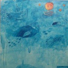 Arte: DIEGO MERRY DEL VAL (MADRID, 1968). PESCA DE ALTURA. ACRÍLICO SOBRE LIENZO.. Lote 195486197