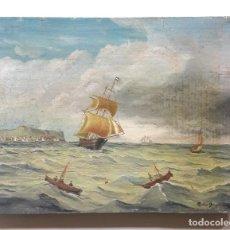 Arte: ILEGIBLE, NORTE DE EUROPA, SIGLO XIX. OLEO SOBRE TABLA. Lote 195509280