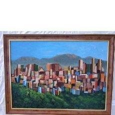 Arte: BOOM DE LA CIUDAD COLLAGE ÓLEO POR MERCEDES SOS. Lote 195515202