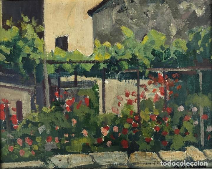 RAFAEL DURAN BENET (1931-2015) JARDÍN ÓLEO (Arte - Pintura - Pintura al Óleo Contemporánea )