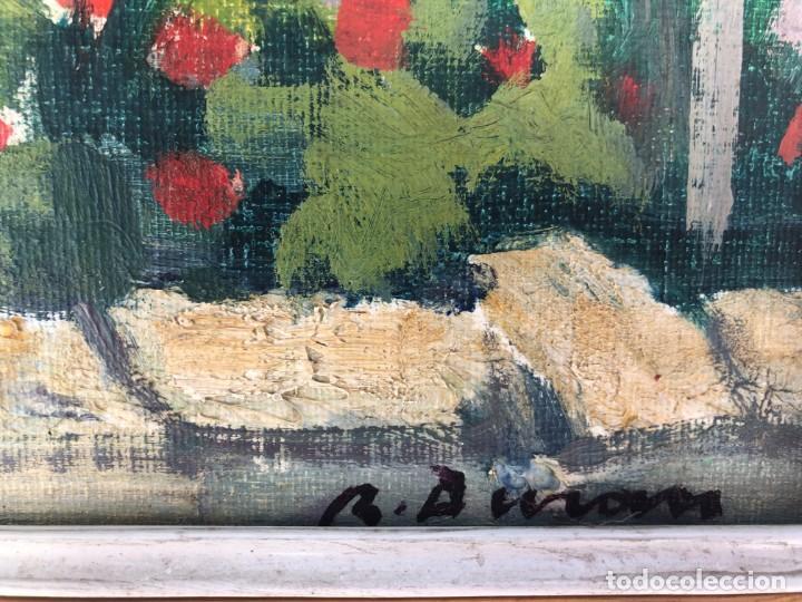 Arte: Rafael Duran Benet (1931-2015) jardín óleo - Foto 3 - 195537525