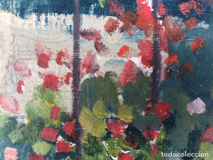 Arte: Rafael Duran Benet (1931-2015) jardín óleo - Foto 4 - 195537525