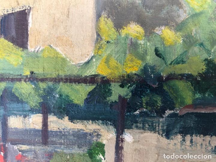 Arte: Rafael Duran Benet (1931-2015) jardín óleo - Foto 5 - 195537525