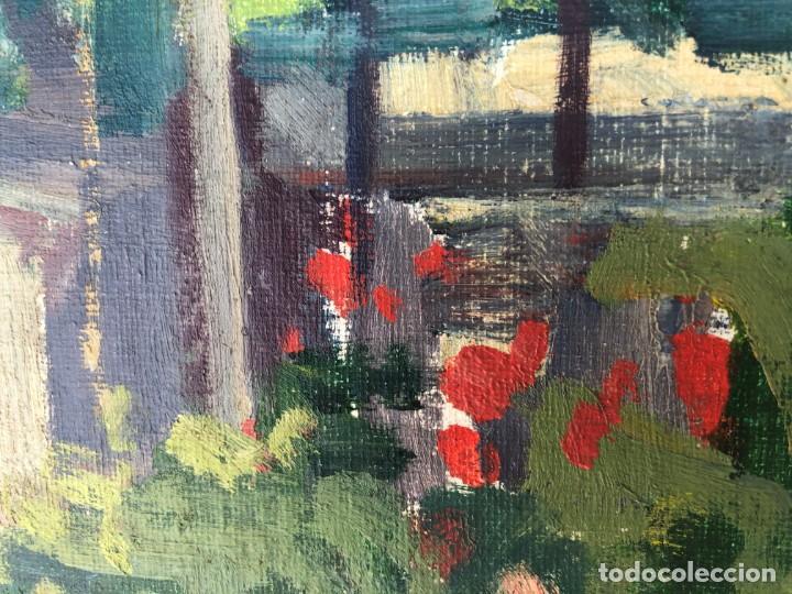 Arte: Rafael Duran Benet (1931-2015) jardín óleo - Foto 7 - 195537525