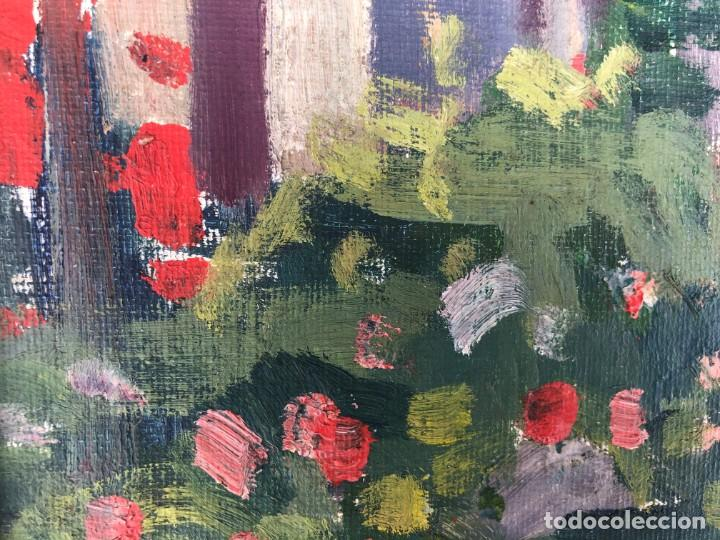 Arte: Rafael Duran Benet (1931-2015) jardín óleo - Foto 8 - 195537525