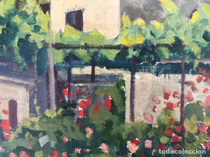 Arte: Rafael Duran Benet (1931-2015) jardín óleo - Foto 9 - 195537525